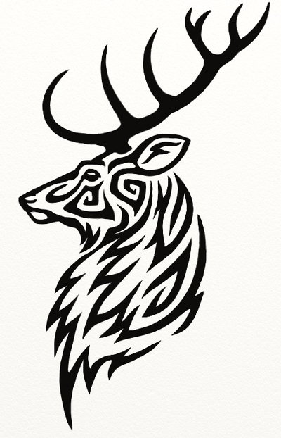 400x622 Deer Tribal Drawings Deer Antler Drawings