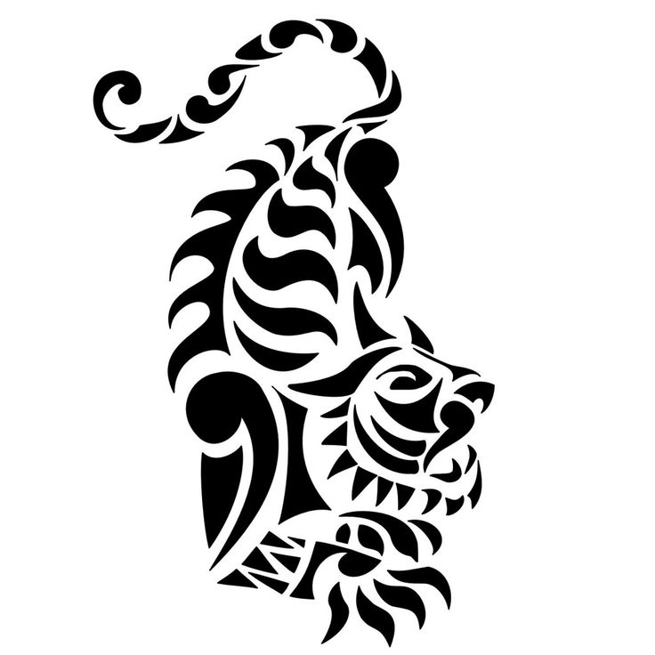 736x736 Image Result For Tribal Drawing Tiger Painting