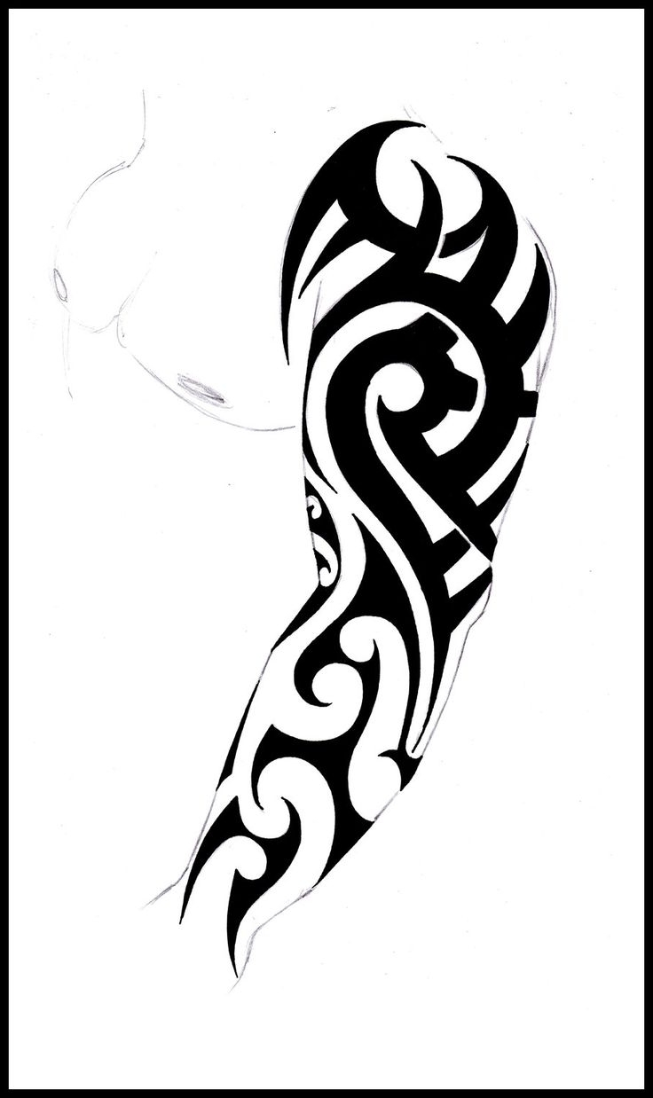 736x1238 Tribal Arm Sleeve Tattoo Designs