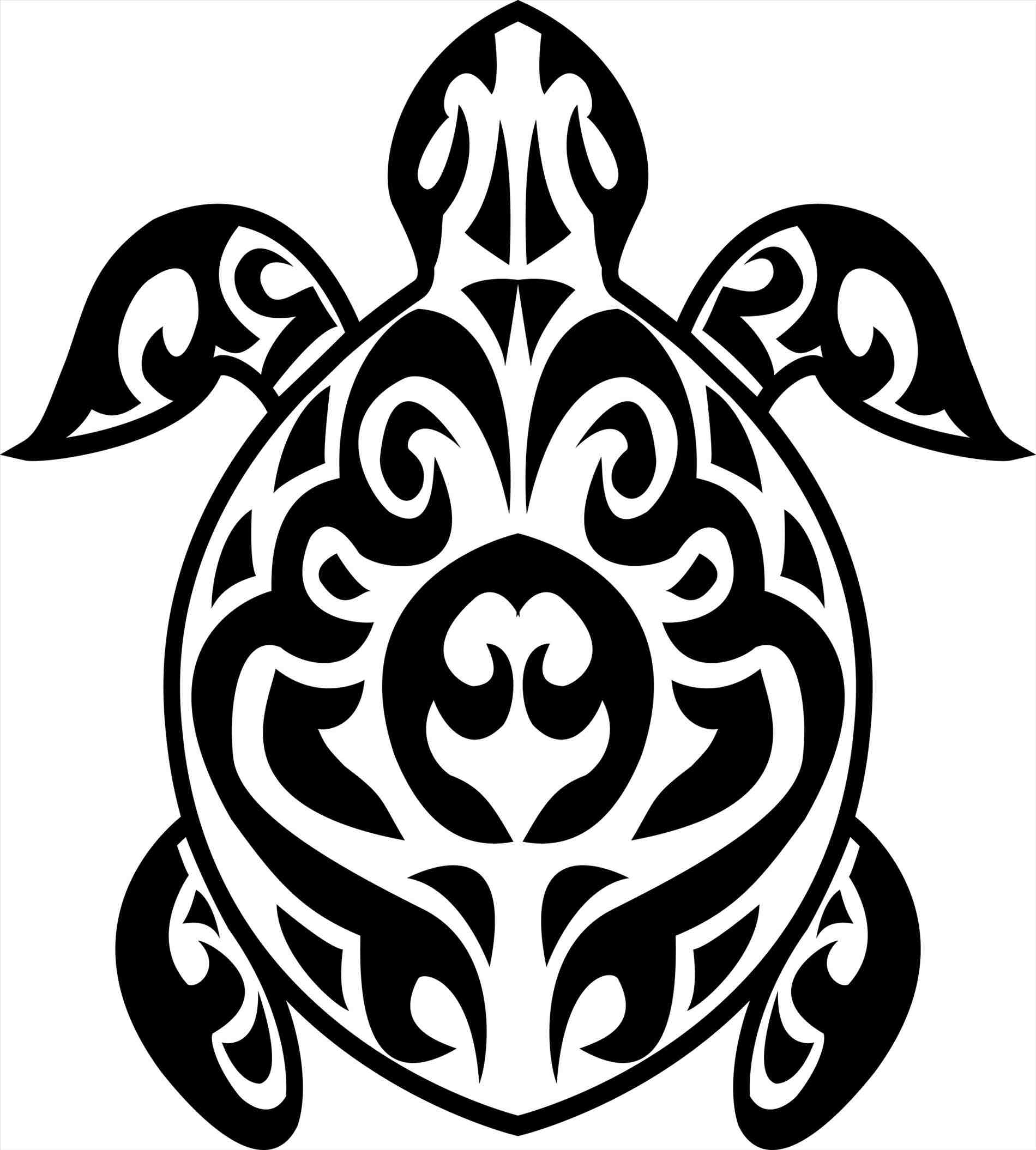 1900x2110 Designs Hawaiian Tribal Turtle Drawings Clipart Panda Free Images