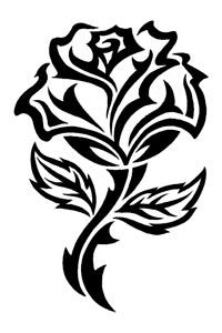 200x300 How To Draw A Tribal Rose Tattoo How To Draw