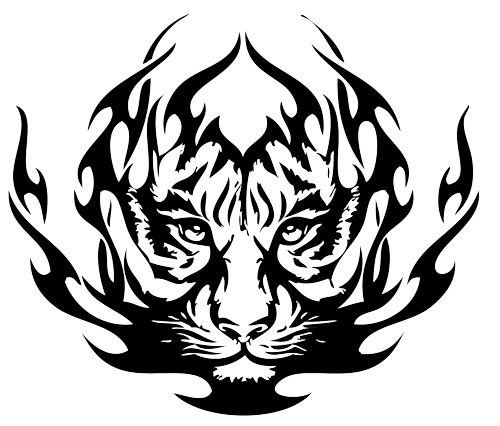 500x426 Tigre Tribal Design