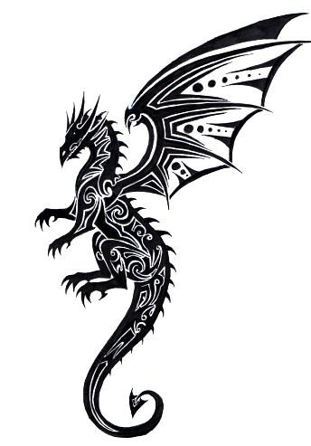 Tribal Dragon Drawing