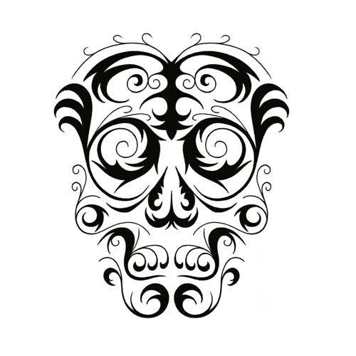 500x500 Cool Tribal Skull Tattoo Design By Jsharts