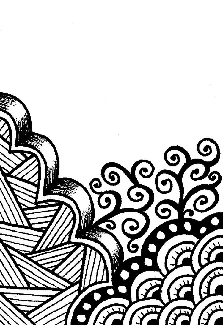 750x1089 Drawing Cool Easy Flower Designs To Draw Also Easy Cool Tribal