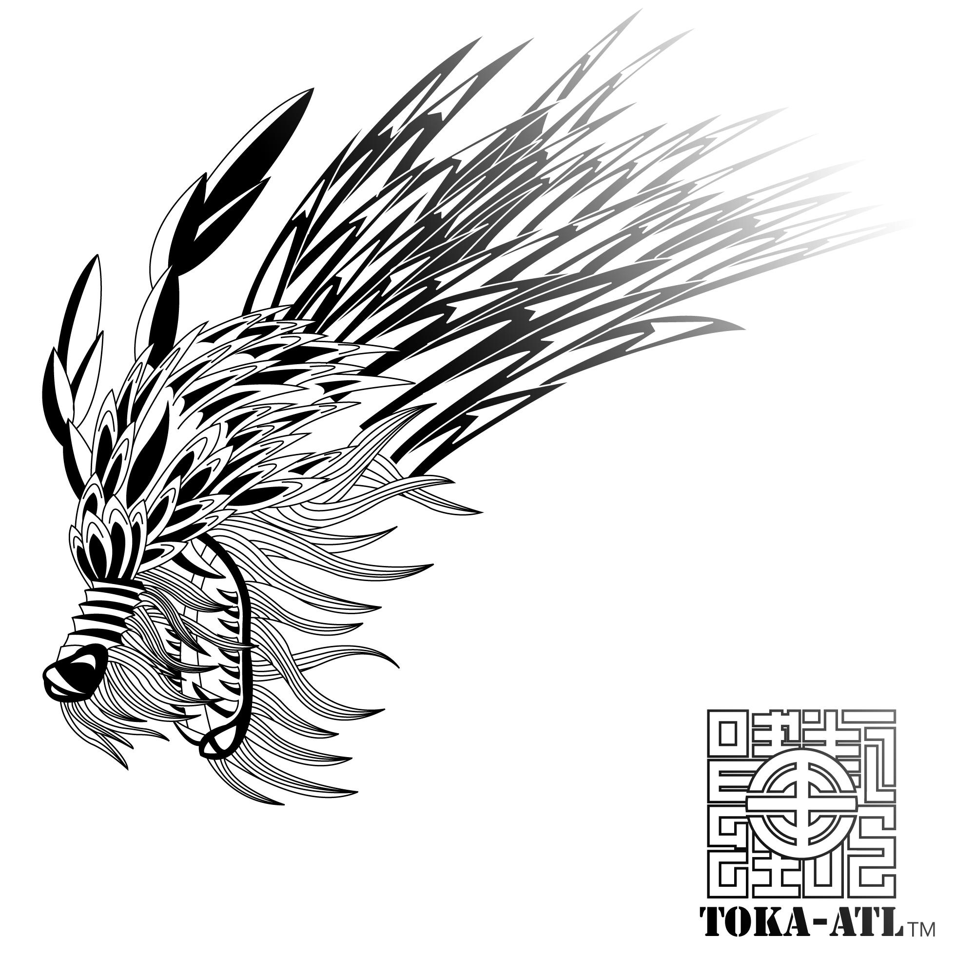 2000x2000 Oriental Dragon Designed By Toka Atl Tribal Drawings
