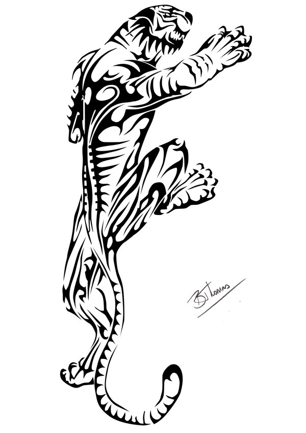 600x848 Amazing Tiger Tribal Tattoo Designs 20 For Simple Tattoo Designs