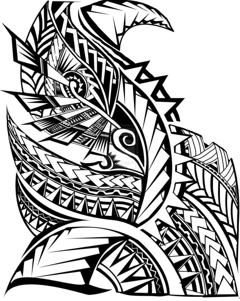 1011x1264 Hawaiian Tribal Drawing Designs