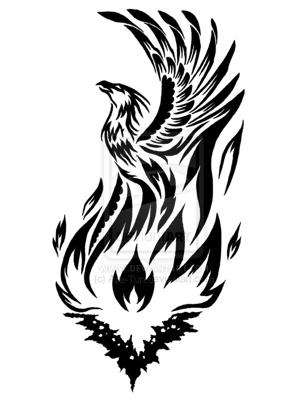 600x788 Phoenix Clipart Tribal
