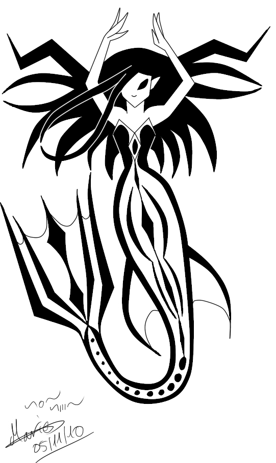 541x909 Tribal Mermaid By Pyodekantra