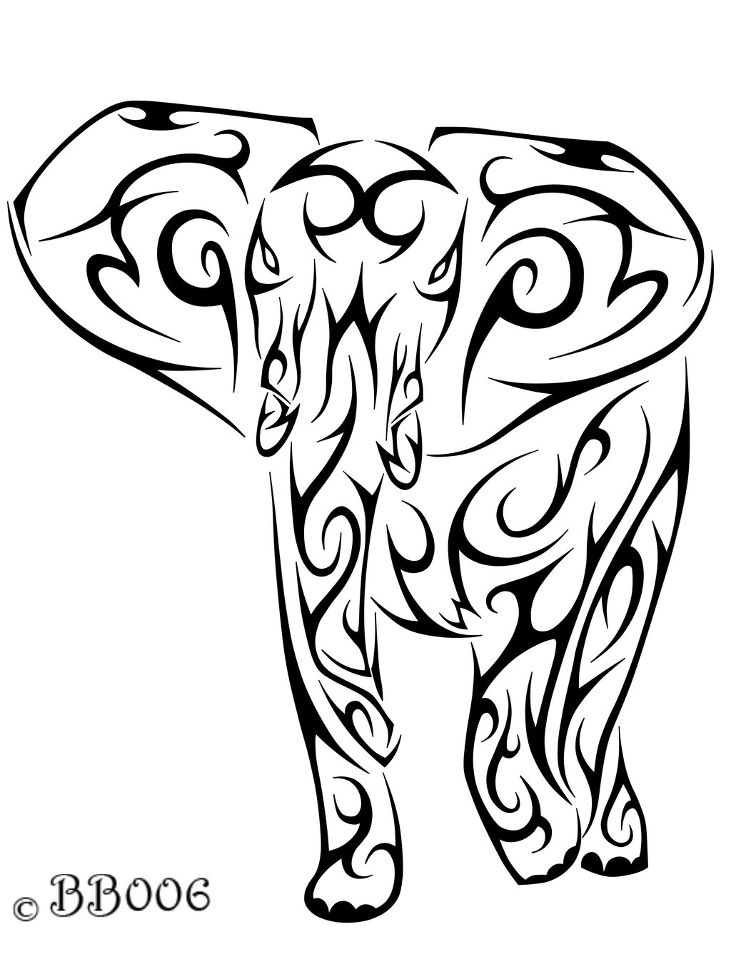 1024x1365 Tribal Elephant