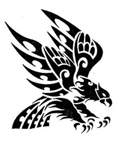Tribal Eagle Drawing at GetDrawings com | Free for personal