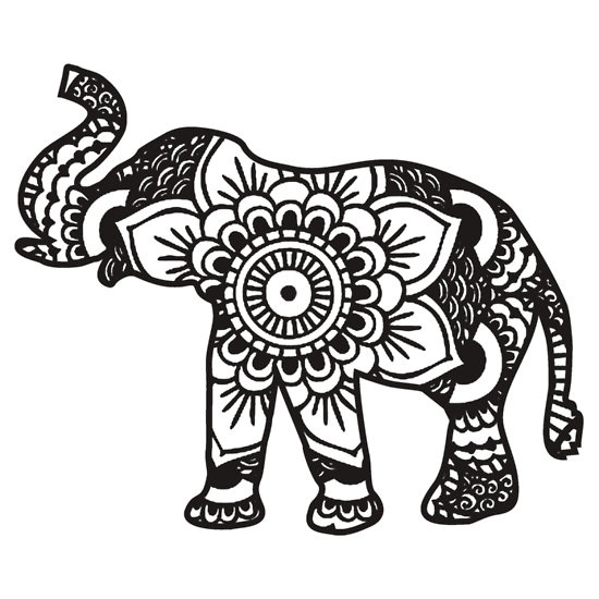 tribal elephant drawing at getdrawings com free for personal use