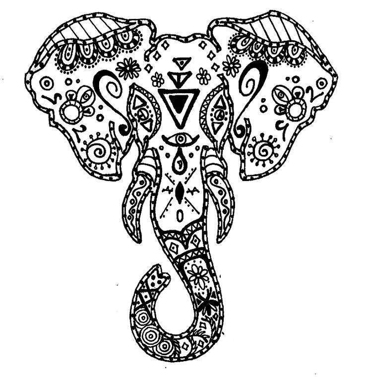 Tribal Elephant Drawing at GetDrawings.com | Free for personal use ...