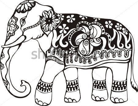 450x345 Drawn Asian Elephant Artsy