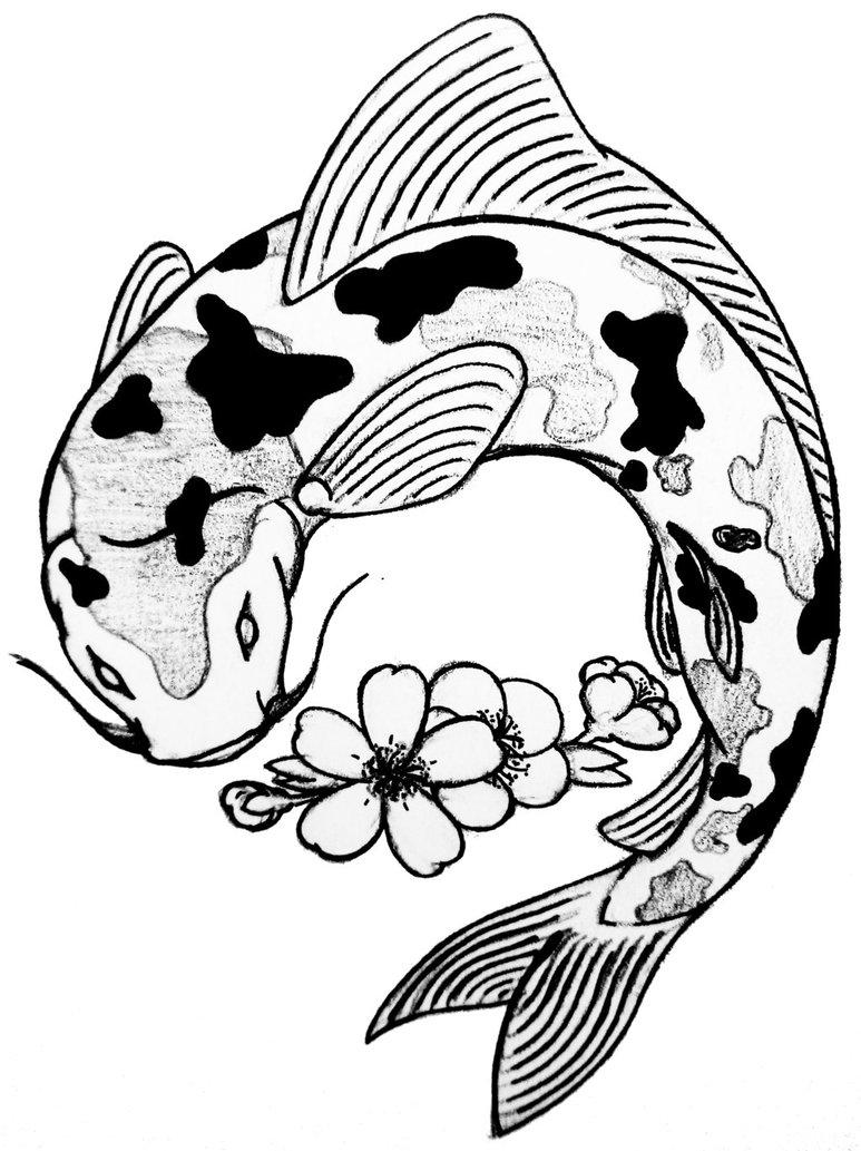 773x1033 Koi Fish By Curvy Tribal