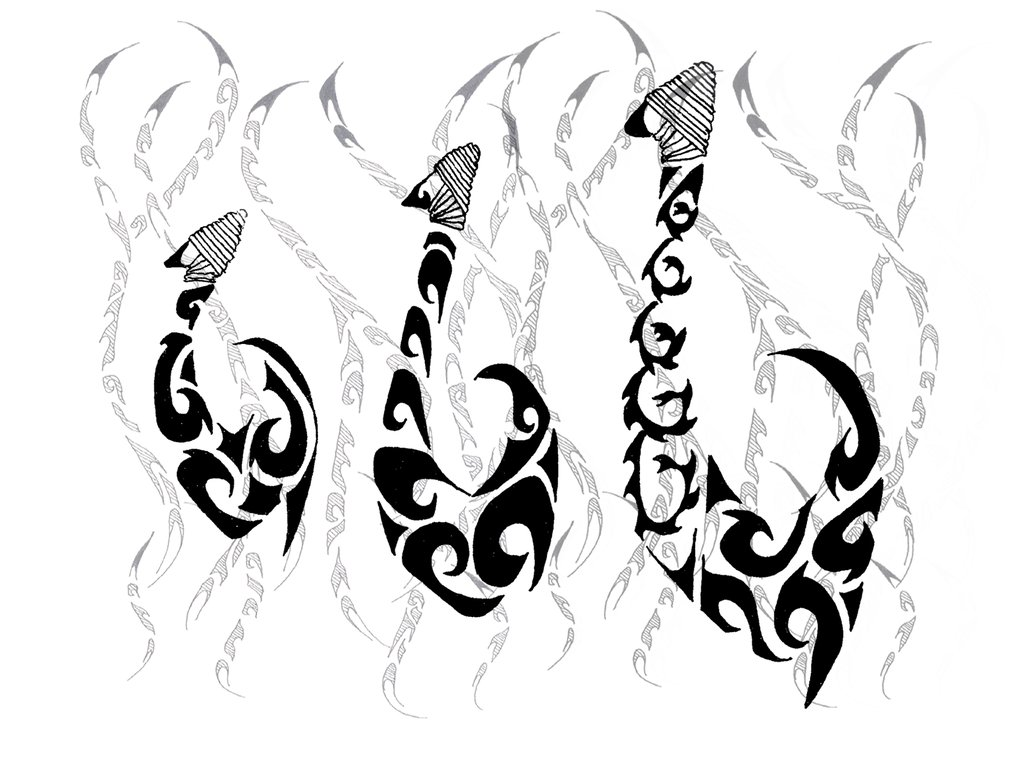 1034x772 Tribal Fish Hooks By Diangirl
