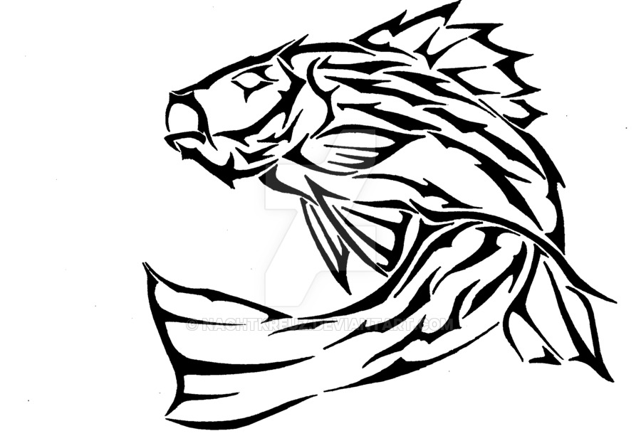 Line Art Of Fish : Tribal fish drawing at getdrawings.com free for personal use