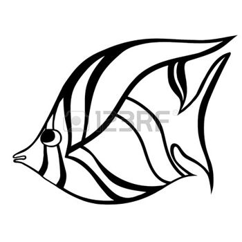 350x350 Tribal Whale Stylized Fish. Hand Drawn Doodle Vector Illustration
