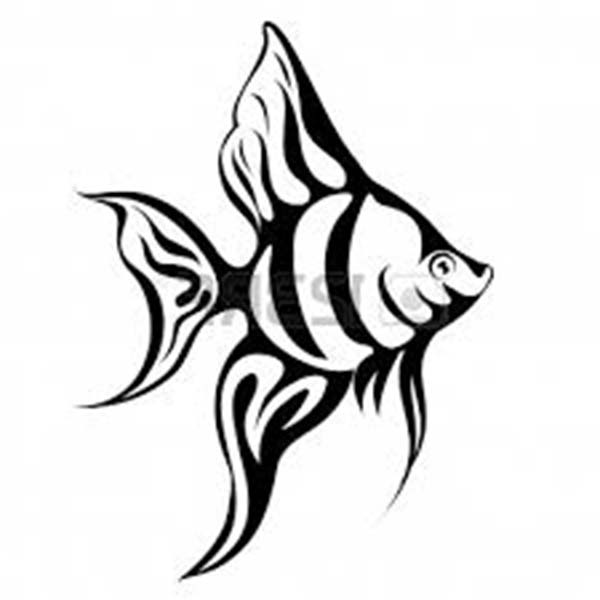 600x600 21 Angel Fish Coloring Page, Angelfish Coloring Pages Download