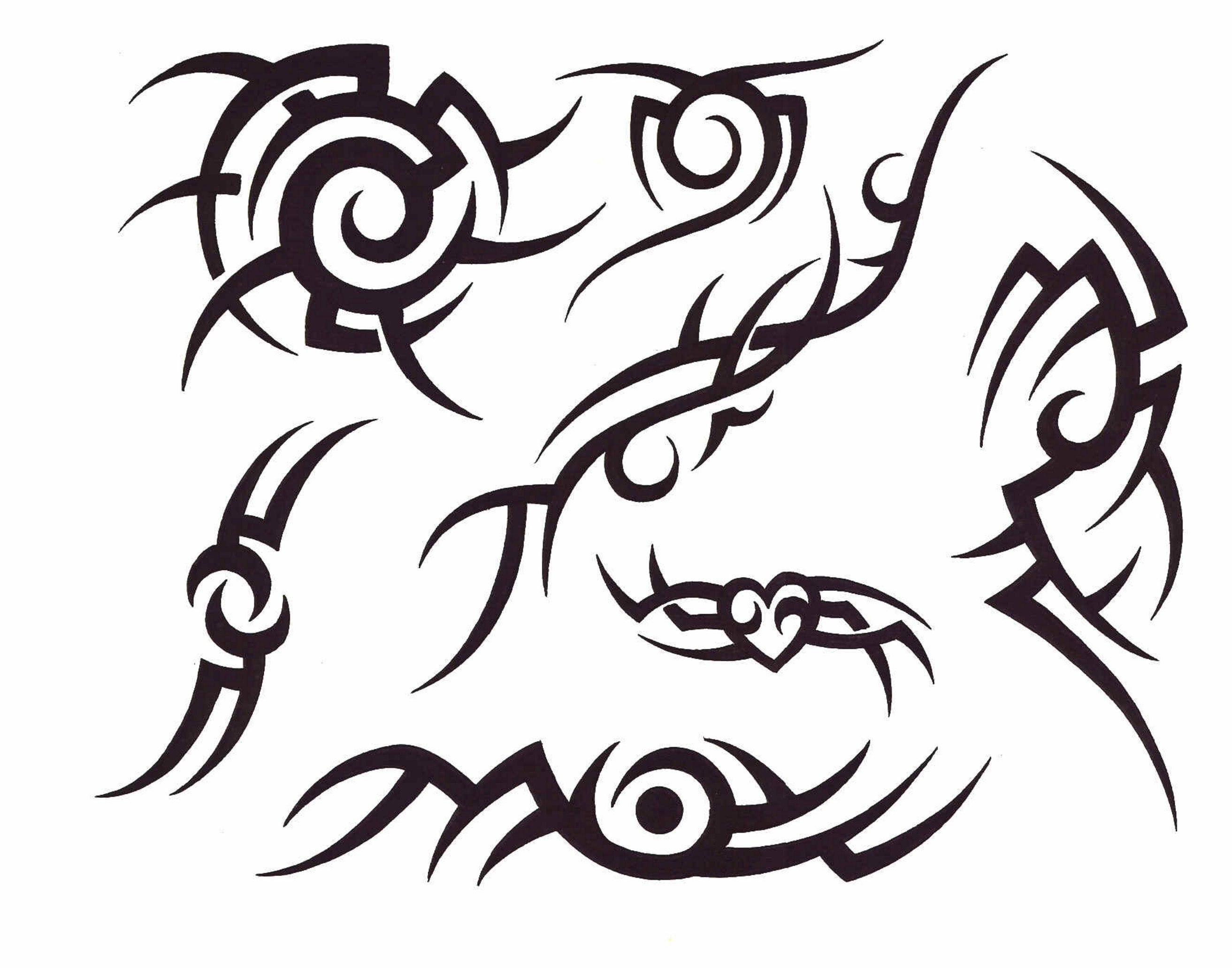 Tribal Flame Drawing At Getdrawings Com Free For Personal Use