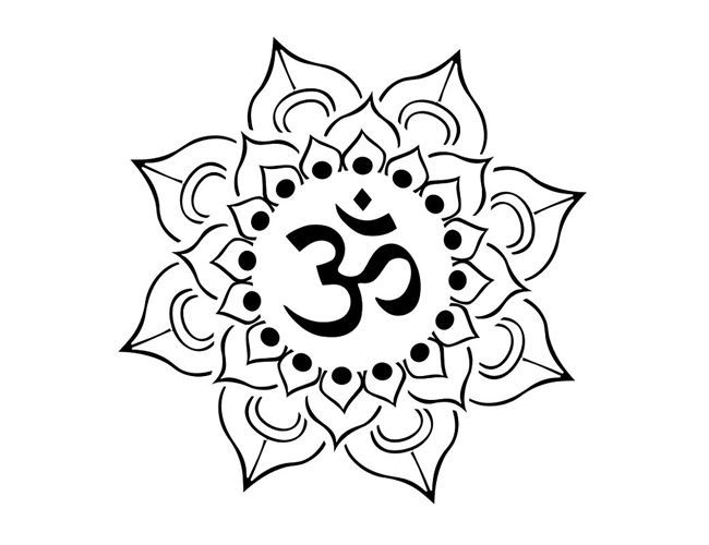 Tribal Flower Drawing