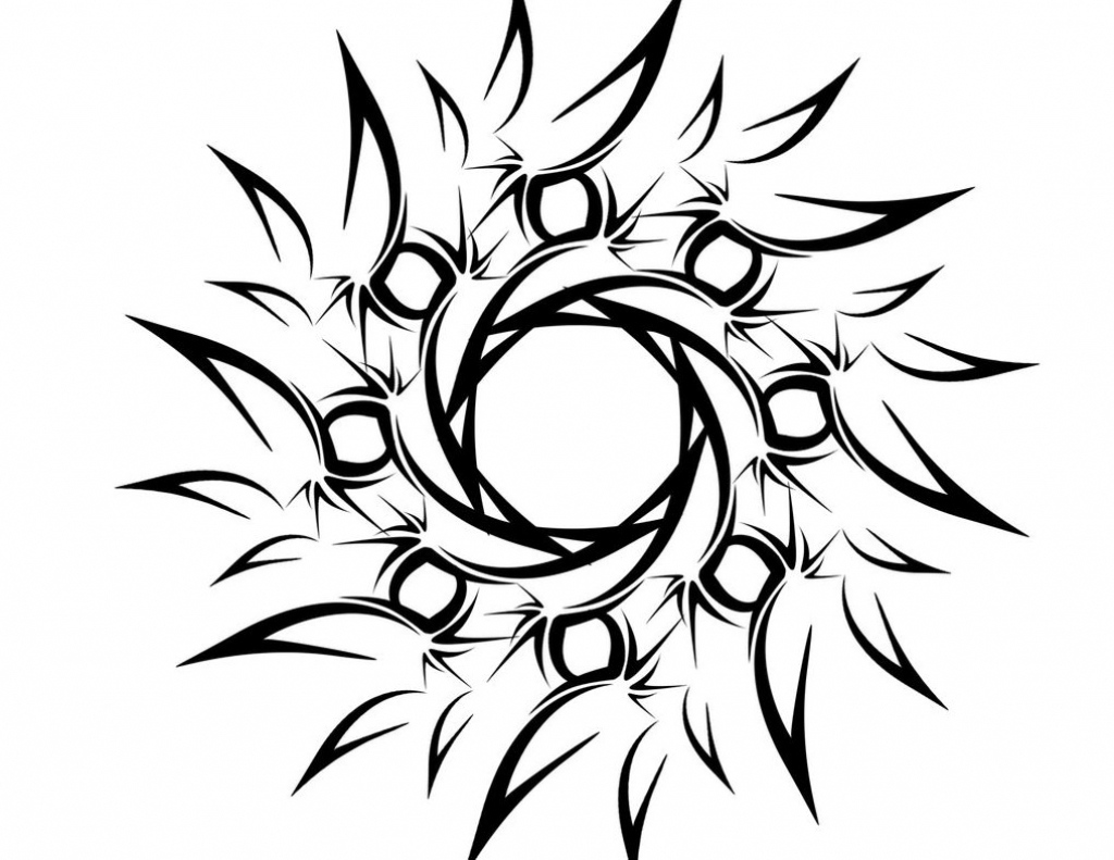 1024x791 Tribal Flower Drawings Flower Tribal Drawing Tribal Flower Tattoo