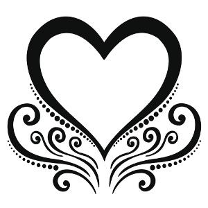 Tribal Heart Drawing