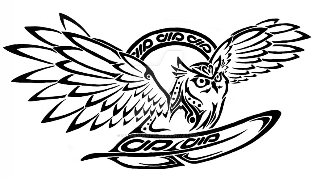 1024x576 Tribal Owl With Celtic Accents By Kindredspirit1023