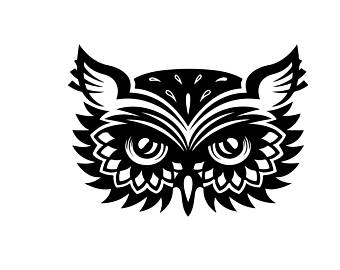 340x270 Tribal Owl Decal Etsy