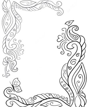 300x372 Diy Drawing Flower Features Flower Pattern Drawing And Floral