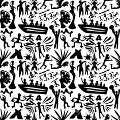 236x236 38031655 African Seamless Pattern Ancient Tribal Background Black