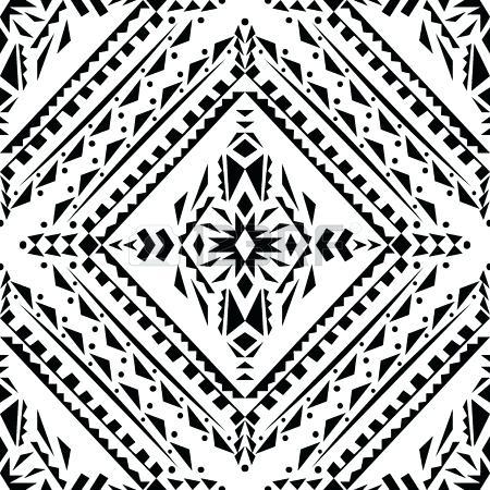 450x450 Native American Geometric Patterns Black And White Tribal