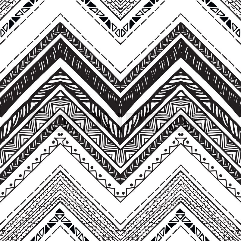 800x800 Tribal Pattern Black And White Drawing