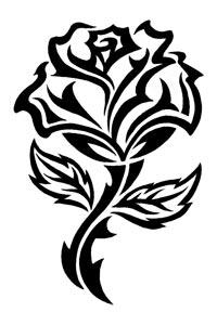 200x300 Black Rosy Cross Temporary Tattoo Designs, Butterfly, Patriotic