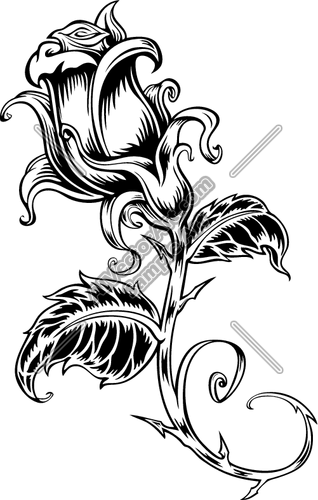 318x500 Tribal Rose Clipart And Vectorart Misc Graphics