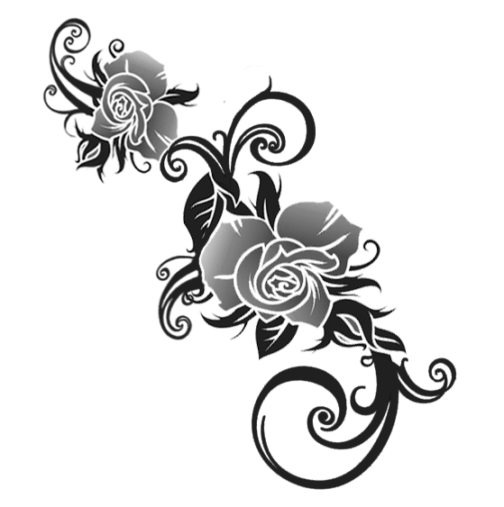 2c92c6f890 Good Quality Exquisite Design Tribal Rose Tattoo By