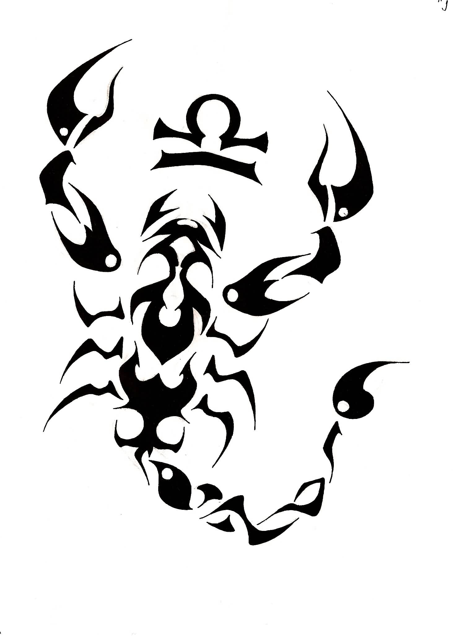 Tribal Scorpion Drawing At Getdrawings Free For Personal Use