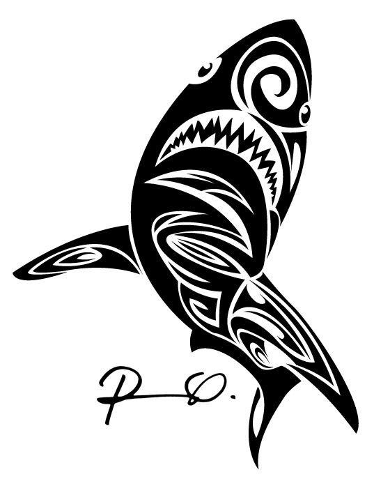 Tribal Shark Drawing At Getdrawings Com Free For