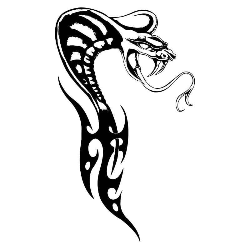 Tribal Snake Drawing