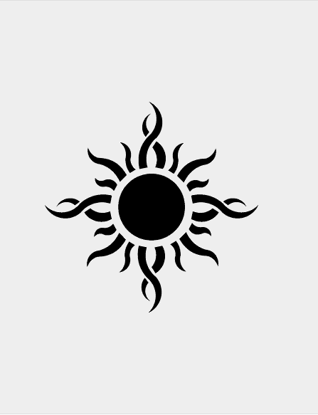 Tribal Sun Drawing