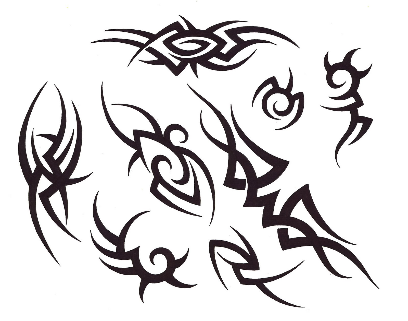 Tribal Tattoo Drawing At Getdrawings Com Free For Personal Use