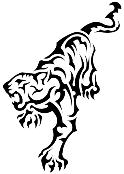 Tribal Tiger Drawing At Getdrawings Com Free For Personal Use