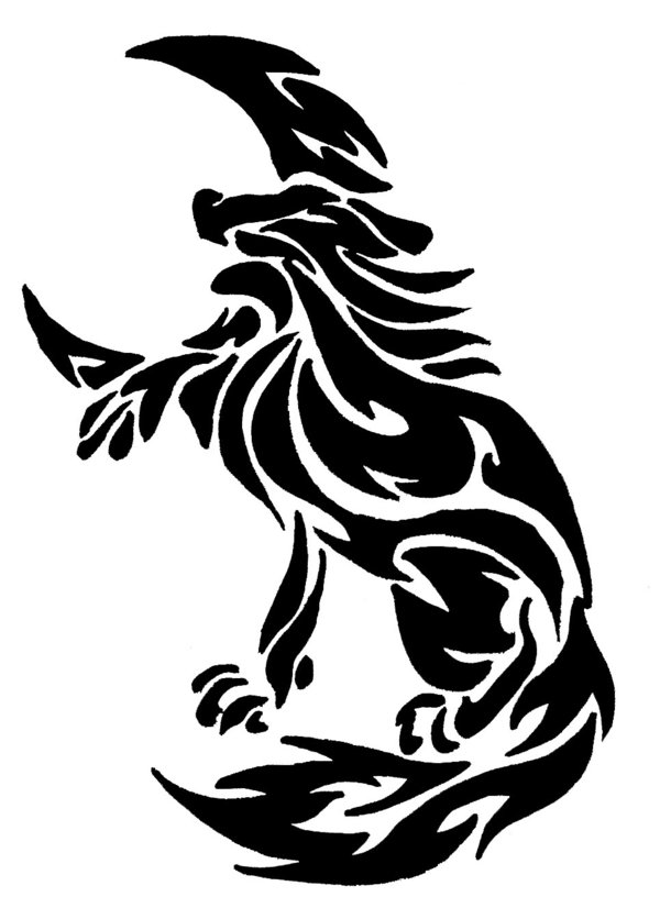 Tribal Wolf Drawing At Getdrawings Com Free For Personal