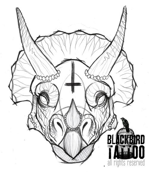 500x576 Triceratops Tattoo Tumblr