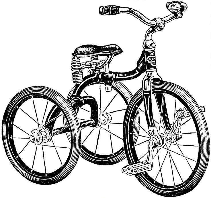 736x693 Resultado De Imagem Para Tricycle Drawing Bikes