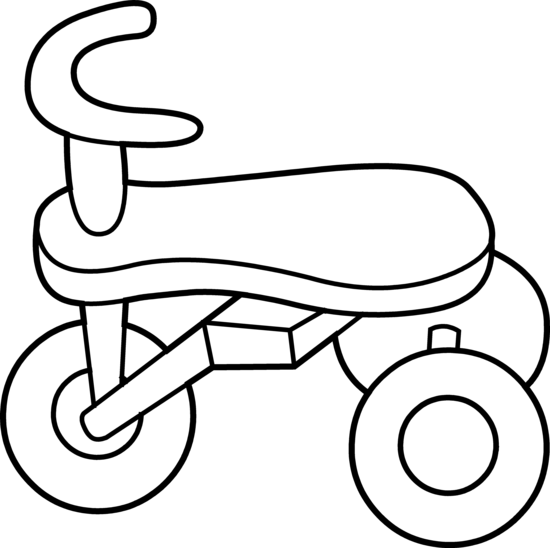 550x548 Toddler Tricycle Line Art