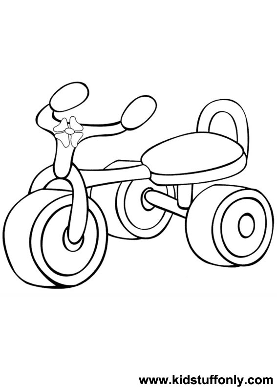567x794 Tricycle Coloring Pages