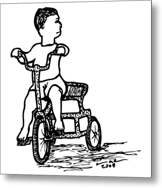 516x600 Tricycle Drawing By Karl Addison