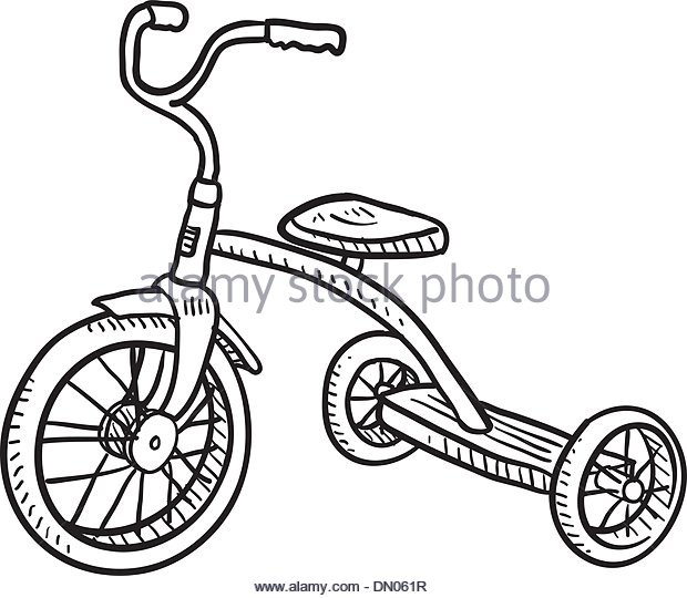 620x540 Tricycle Sketch Stock Photos Amp Tricycle Sketch Stock Images